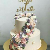 2 Layer Floral Cake