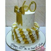 2 Tier Beautiful Cake