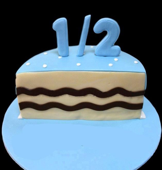 Half Birthday Cake 4 Home Designer Cakes