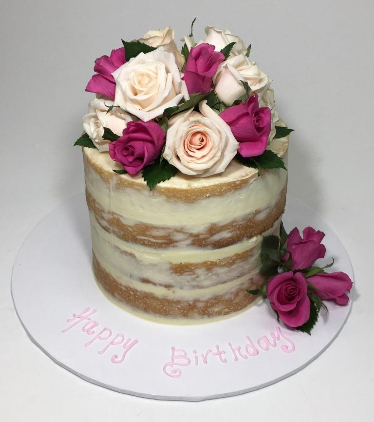 Naked Floral Cake In Vadodara 1 Kg Cakestudio